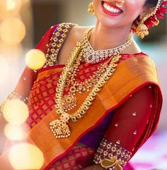 Explore Heavy Fashion Jewellery for South Inidan Bride. Visit us for stunning South Indian Bridal Sarees, Blouses, Hair Styles, Makeup, Jewellery & Makeup South Indian Bridal Jewellery, Indian Bridal Fashion, Indian Jewellery Design, Indian Bridal Wear, Indian Jewelry, Bridal Jewelry, Jewellery Designs, Fashion Jewellery, South Indian Bride