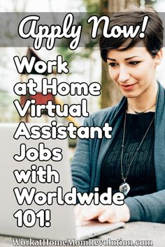 Home-Based Virtual Assistant Jobs with Worldwide 101 Work From Home Moms, Make Money From Home, How To Make Money, Earn Money Online, Online Jobs, Home Based Jobs, Virtual Assistant Jobs, Legitimate Work From Home, Job Posting