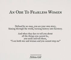 An ode to fearless women. Pretty Words, Beautiful Words, Poem Quotes, Life Quotes, Quotes On She, Wild Girl Quotes, Wild Women Quotes, Fierce Women Quotes, Chaos Quotes