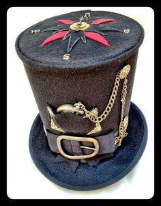 Compass Top Hat *Steampunk by SHURIE SOUTHCOTT #millinery #hats #HatAcademy