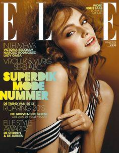 Pretty model: Nimue Smit Covers Elle Dutch March 2012