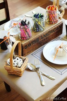 A Blissful Nest - Kids Thanksgiving Day Table