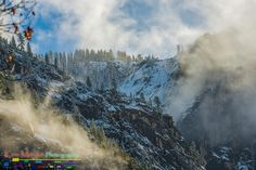 Yosemite_Golden_Clouds_Over_Mountains 1