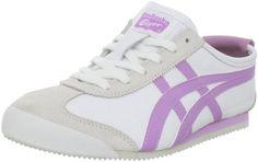 Onitsuka Tiger Women`s Mexico 66 Fashion Sneaker,White/Lilac,6 M US $80.00