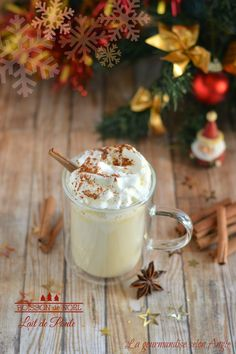 Christmas drink {eggnog} – Tables and desk ideas Vegan Christmas, Christmas Sweets, Christmas Drinks, Christmas Cooking, Xmas Food, Love Eat, Fun Drinks, Food Inspiration, Food And Drink
