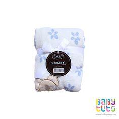Frazada para bebé coral bordada celeste, $8.850 (precio normal). Marca Bambino: http://bbt.to/1AcKeGC