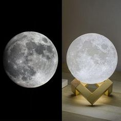 moon light for a better sleep – vally shop deal Table Lamps For Bedroom, Bedroom Lighting, Light Bedroom, House Lighting, Moon Light Lamp, Mothers Day Crafts For Kids, Light Touch, Night Lamps, Led Night Light