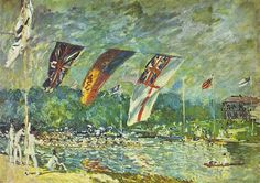 Regatas em Molesey, Alfred Sisley, 1874