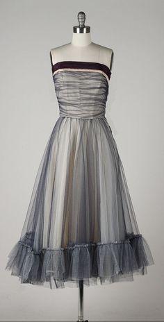 vintage 1950s dress . purple tulle . by millstreetvintage on Etsy