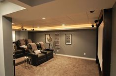 basement home theater on a budget