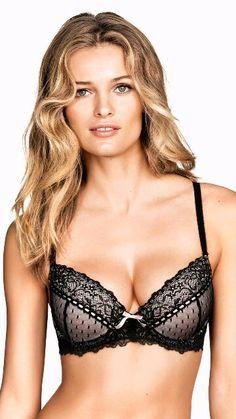 Black lace up bra  20 H m Fashion 784ab8994