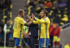 John Guidetti of Sweden is being replaced by Christoffer Nyman of Sweden during…
