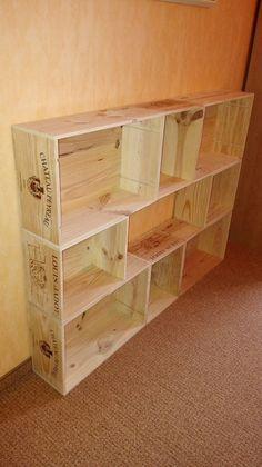 1000 ideas about weinkisten regal on pinterest wine. Black Bedroom Furniture Sets. Home Design Ideas