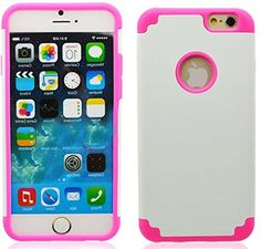 """myLife Pure White + Bunny Pink {Shockproof Matte Design} 2 Layer Hybrid Case for the NEW iPhone 6 (6G) 6th Generation Phone by Apple, 4.7"""" Screen Version (Single External Fitted Hard Protector Shell + Full Body Internal Silicone EASY-Grip Bumper Gel Protection) myLife Brand Products http://www.amazon.com/dp/B00NJ62YCE/ref=cm_sw_r_pi_dp_eyfpub0DPZKY3"""