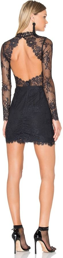 NBD Delilha Lace Dress with Cutout Back Detail at ShopStyle