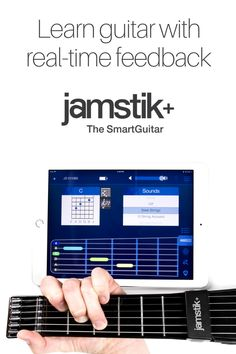 Learn guitar at your own pace, on your own schedule. The jamstik+ interactive teaching apps walk you through your very first chords in minutes. The placement of your fingers is displayed on the screen giving you instant feedback.