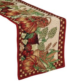Design Imports Design Imports Bountiful Harvest Tapestry Table Runner