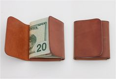 """""""Clean"""" For the clean minimalist. A slick leather wallet for moomoo.    THE FOLD WALLET 
