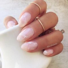 Beauty Trend - Crystal Nails, rose quartz nails The hottest new nail art trend for 2017 is crystal nails! Rose quartz, amethyst, geode nail art, gem stone nails are super hot right now! Rose Quartz Nails, Almond Nails Designs, Nagellack Trends, Crystal Nails, Clear Nails, Glitter Nails, Zebra Nails, Hot Nails, Nail Inspo