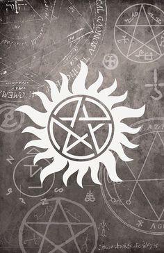 Anti Possession Supernatural Wallpaper For Iphone Supernatural Signs Supernatural Background Supernatural Anti Possession