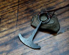 Large Ukonvasara Pendant, a hand forged Finnish hammer pendant made out of reclaimed iron