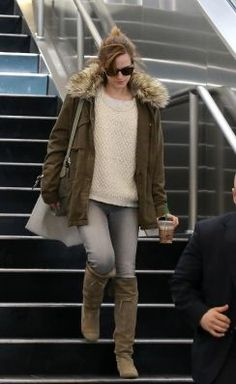 Emma Watson - cute sweater and that coat looks awesome plus i like the hair and sunglasses