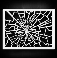 Shattered Glass 2 AirSick Airbrush Stencil Template - vegetarian recipes for men 3d Pen Stencils, Stencil Art, Card Ui, Paisley Art, Beaded Christmas Ornaments, Shattered Glass, Stencil Patterns, Airbrush Art, In Case Of Emergency