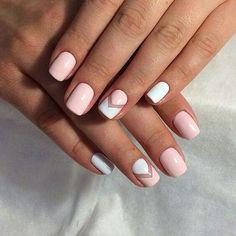 nails, pink, blue, hands, women's, beauty