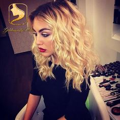 Cheap wig, Buy Quality wig ship directly from China wig mullet Suppliers: grade Glueless blonde full lace ombre human hair wig virgin brazilian two tone wavy lace front wig for blac Love Hair, Great Hair, Gorgeous Hair, Curly Hair Styles, Natural Hair Styles, Blonde With Dark Roots, Hair Dos, Dark Hair, Light Hair