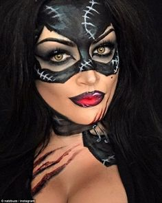 These Disney makeup transformations are giving us serious Halloween inspo - Womens Batman - Ideas of Womens Batman - Cat woman make up look for Halloween Halloween Inspo, Halloween Makeup Looks, Halloween Costumes, Disney Halloween Makeup, Halloween Make Up Cat, Holiday Makeup, Catwoman Makeup, Superhero Makeup, Disney Makeup