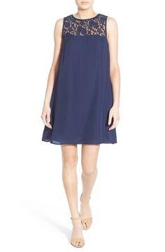 Speechless Womens Lace Yoke Shift Dress Size Medium #Speechless #Festive