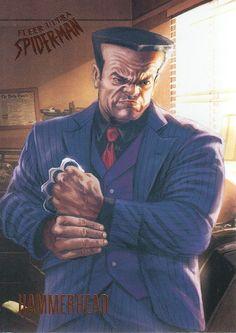 Hammerhead (2017 Fleer Ultra Spider-Man) Venom Comics, Marvel Comics Art, Marvel Vs, Marvel Heroes, Comic Movies, Comic Book Characters, Comic Books Art, Comic Art, Marvel Comic Universe