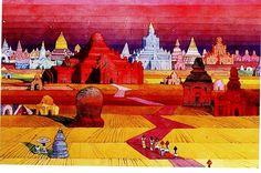 Panoramic Bagan. Bagan, Modern Artists, Burmese, Traditional Design, Homeland, Designs To Draw, Watercolor Art, Artworks, Oriental