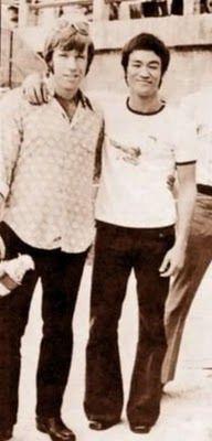 Chuck Norris et Bruce Lee