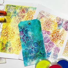 Check out a cool technique for printing with your Gelli Arts® Printing Plate! Gelli Plate Printing, Gelli Arts, Art Journal Techniques, Plate Art, Art Lessons, Art For Kids, Art Projects, Stencils, Paper Crafts