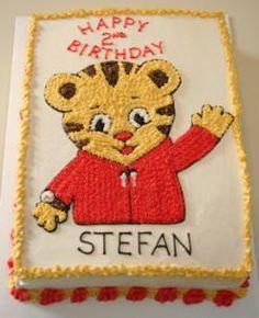 Daniel the Tiger Cake Daniel Tiger Birthday Cake, Daniel Tiger Cake, Daniel Tiger Party, Toddler Birthday Cakes, Girl 2nd Birthday, 3rd Birthday Parties, Birthday Ideas, Grilled Ham, Character Cakes