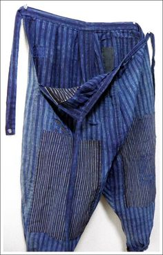 Japanese Farmer's Monpe, Gardening Pants--would like to make some of these but not with a sagging crotch.