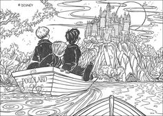 Harry Potter in Poudlard coloring page. We have selected this Harry Potter in Poudlard coloring page to offer you nice HARRY POTTER coloring pages to . Castle Coloring Page, Colouring Pages, Coloring Pages For Kids, Coloring Sheets, Coloring Books, Harry Potter Colors, Harry Potter Art, Harry Potter Hogwarts, Vif D'or