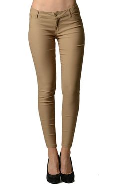 Khaki Colored Tight Jeggings | Home Goods Galore