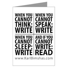 Writers Write & Read