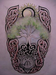 Tree of Life, Awen, Sun & Moon