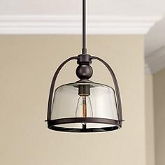 "Quoizel Piccolo 11 1/2"" Wide Bronze Mini Pendant Light"