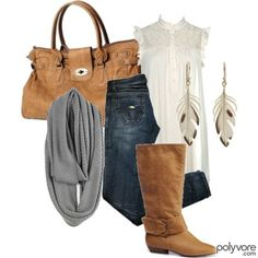 A fashion look from November 2008 featuring Forever Wild Pair boots and YesStyle handbags. Browse and shop related looks. Fall Winter Outfits, Autumn Winter Fashion, Summer Outfits, Cute Outfits, Winter Ootd, Work Outfits, Mode Style, Style Me, Viernes Casual