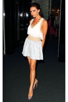 July 2010, Victoria Beckham in Miu Miu at Net-a-Porter's 10th Birthday Party