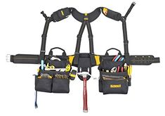 DEWALT Pro Framer's Combo Apron Tool Belt and Yoke-style Suspenders -- More info could be found at the image url. (This is an affiliate link) Best Tool Bag, Electrician Tool Belt, Carpenter Tool Belt, Tool Belt Suspenders, Occidental Leather, Tool Apron, Leather Tool Belt, Work Belt, Leather