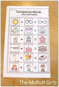 Compound Words: Cut and paste! PERFECT introduction to compound words!