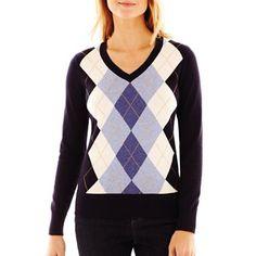St. John's Bay® Argyle Sweater - jcpenney