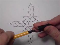 Keltischer Knoten 19 (1. Motiv mit Rahmen)