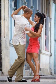 Couple dancing together,Havana. Cuba