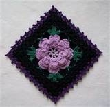 -An interesting take on an old favorite. NEW thread crochet flower potholder with gothic touches, crocheted from vintage 1950's pattern.